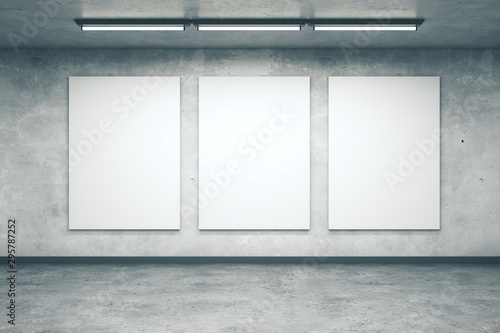Cuadros en Lienzo interior with blank wall