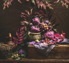 Still Life With Purple Fruits ...