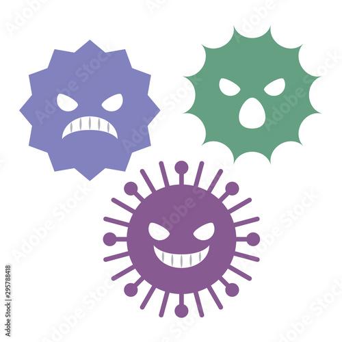 Obraz na plátne  ウイルス