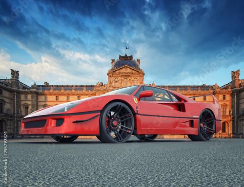 Ferrari F40 Rendering in alta risoluzione Canvas-taulu