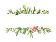Watercolor Vector Christmas Ba...