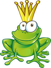 Cute Frog Prince Cartoon Char...