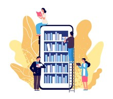 Online Library. People Reading...