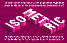 Isometric Alphabet Font. 3d Ef...