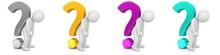 Question Marks 3d Burnout Broken Worried Sad Stick Man Figure People