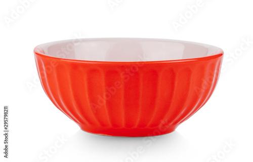 Fototapeta ceramic bowl isolated on white background obraz