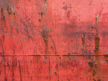 The Steel Cladding Of The Ship With Welds And Traces Of Rust Is Photographed Under Natural Light In The Daytime. Background Picture.