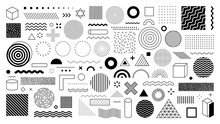 Set Of 100 Geometric Shapes. M...