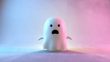 Cute Ghost. 3d Rendering Picture.