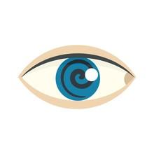 Magic Eye Hypnosis Icon. Flat ...