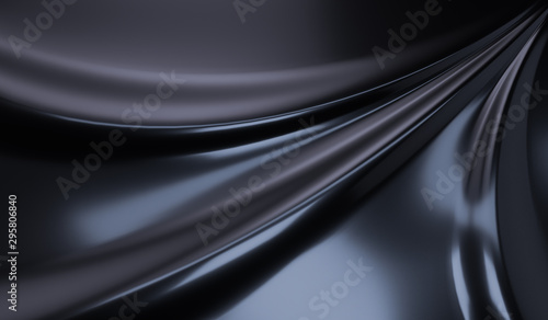Obraz Fluid and liquid abstract black surface. Black Friday sale background, Elegant luxurious cloth backdrod, 3d illustration. - fototapety do salonu