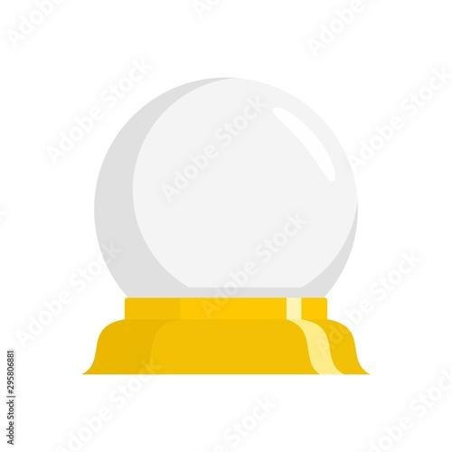 Magic glass ball icon. Flat illustration of magic glass ball vector icon for web design Wall mural
