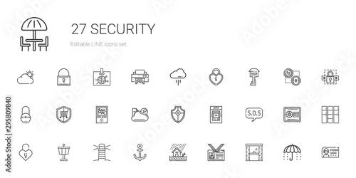 Fotografía security icons set