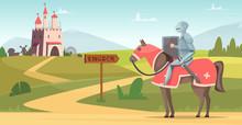 Medieval Knight Background. Hi...