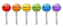 Colorful Lollipops Candies Set...