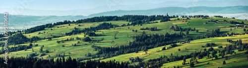 Montage in der Fensternische Pistazie Rural landscape. View from Gubalowka, Zakopane in Poland