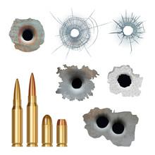 Bullets Realistic. Damaged Cra...