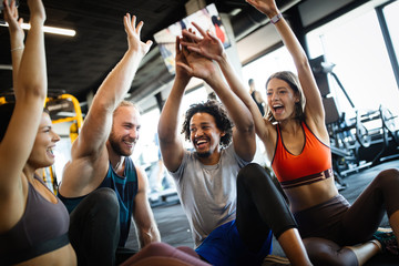 Healthy young athletes frie...