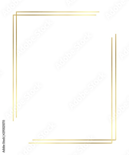 Obraz Vector of Christmas Simple Gold border - fototapety do salonu