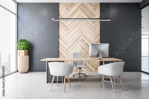 Fototapeta Concrete office interior obraz na płótnie