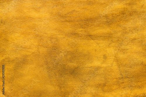 Fotografie, Obraz Texture cuir jaune doré