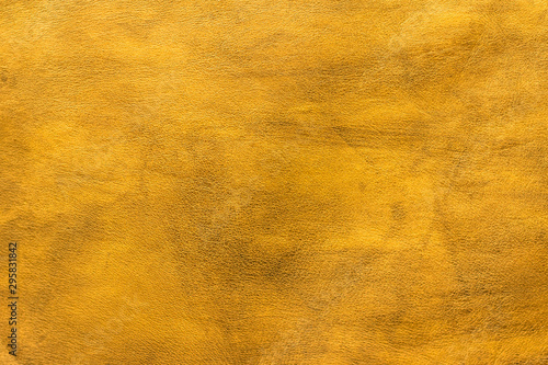 Fotografía Texture cuir jaune doré