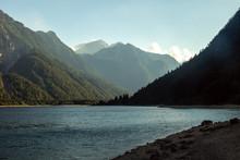 Lago Del Predil Mountain Scenery