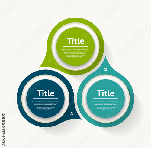 Fototapeta Vector circle infographic. Template for diagram, graph, presentation and chart. Business concept with three options, parts, steps or processes. Abstract background obraz