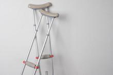 Crutches. Fractured Legs. Crut...