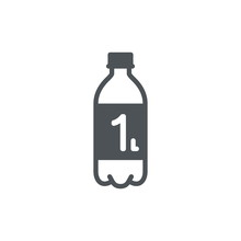 1 Liter L Sign (l-mark) Estimated Volumes Milliliters (ml) Vecto
