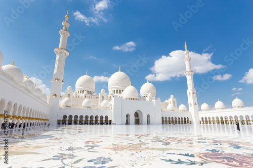 Poster Abou Dabi Sheikh Zayed Grand Mosque in Abu Dhabi, the capital city of United Arab Emirates.