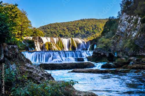 Wall Murals Forest river Waterfall Strbacki Buk on Una river in Bosnia and Herzegovina near the Croatian border