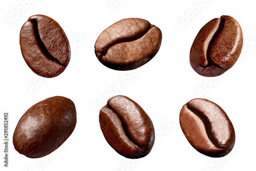 coffee bean brown roasted caffeine espresso seed Fototapeta