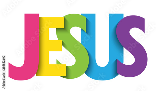 Foto JESUS colorful vector typography banner