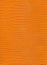 Close Up Orange Crocodile Skin High Resolution Texture Background.