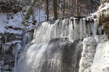 Frozen Waterfall At The Butter...