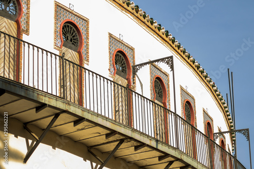Balcony of the bullring, southwest of Spain