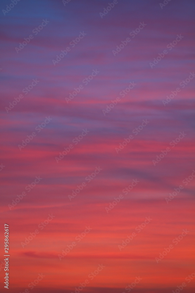 Fototapety, obrazy: blue red sky in the evening
