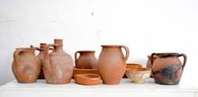 Old Handmade Pottery From Macedonia