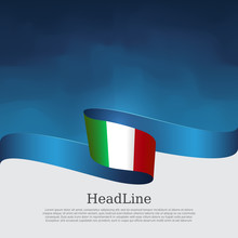 Italy Flag Background. Wavy Ri...