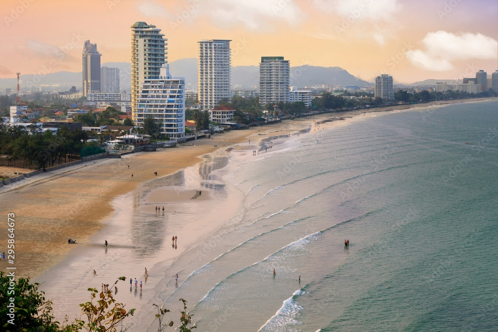 Fototapety, obrazy: Hua Hin sea front overview