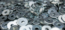 Set Of Metal Washers In The Fo...