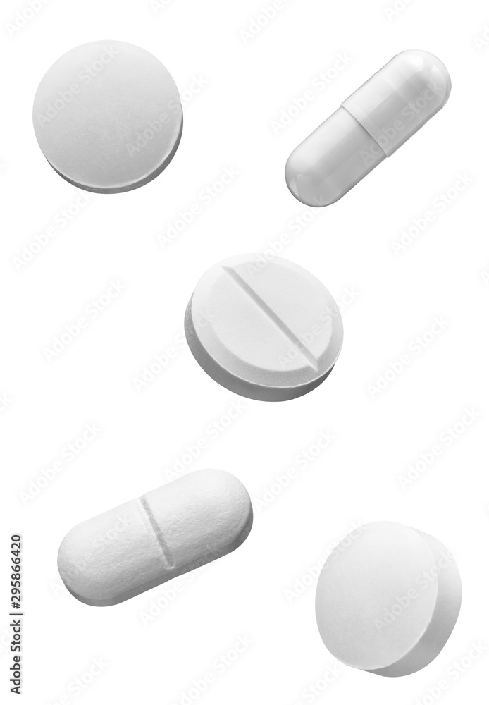 Fototapeta white pill medical drug medication
