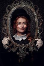 Portrait In Vintage Frame