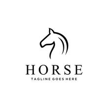 Elegance Horse Vector Linear I...