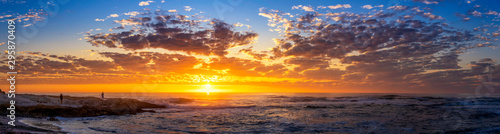 Obraz Panorama of Sunset at the Beach over the Ocean - fototapety do salonu