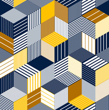 Geometric 3D Seamless Pattern ...