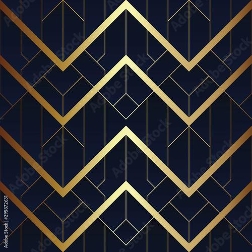 Tapety Art Deco  abstrakcyjny-wzor-w-stylu-art-deco-bez-szwu-niebieski-i-zloty