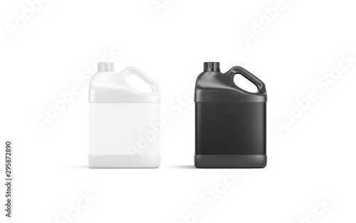 Cuadros en Lienzo Blank black and white plastic canister mockup stand isolated