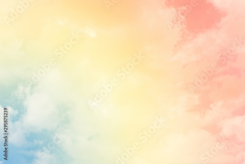 Canvastavla  cloud background with a pastel colour